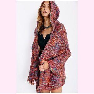 UNIF Raya Rainbow Oversized Knit Sweater Sz Small